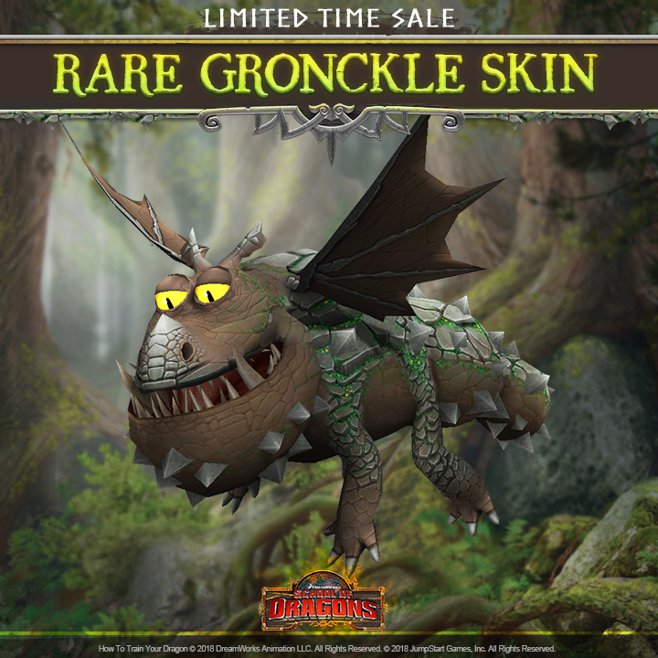 Rocking NEW Rare Gronckle Skin! | School of Dragons | How to Train
