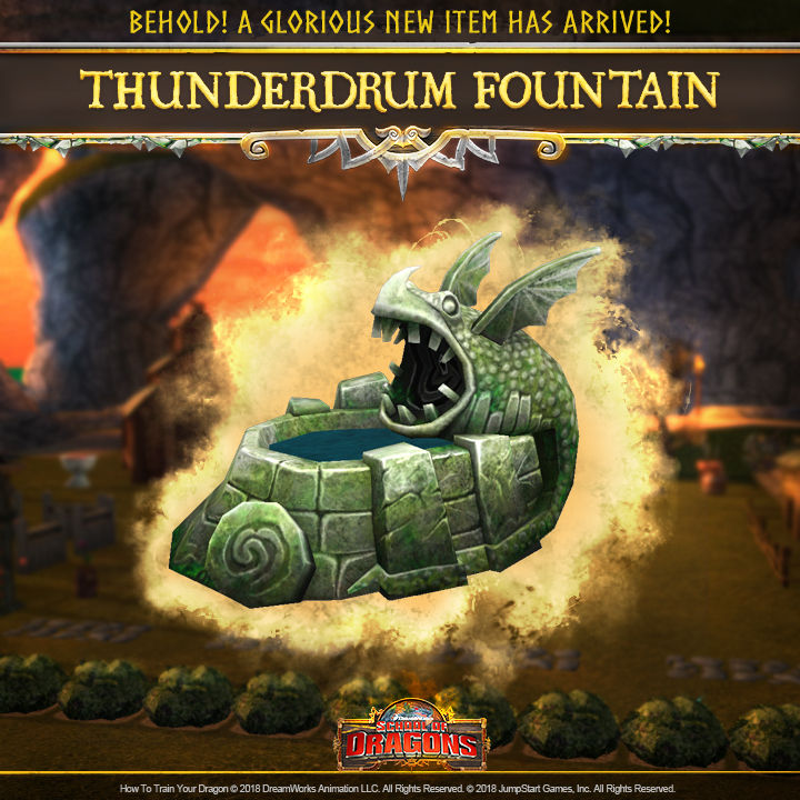 ALL-NEW Thunderdrum Fountain! | School of Dragons | How to ...
